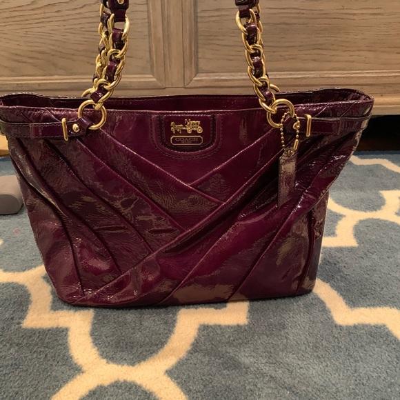 0cacf17ac34 Coach Bags   Dark Purple Patent Leather Purse   Poshmark